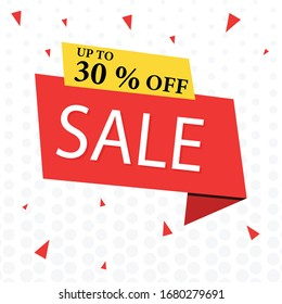 Up to 30% off sale banner. You use the banner,  Ads, Social Media & web blogs.