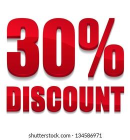 30 percent discount text