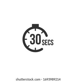 30 seconds Countdown Timer icon set. time interval icons. Stopwatch and time measurement. Stock Vector illustration isolated on white background.