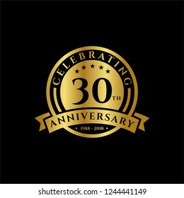 30 th Anniversary celebrations emblems vector , anniversary template design for web, game ,Creative poster, booklet, leaflet, flyer, magazine, invitation card and other us