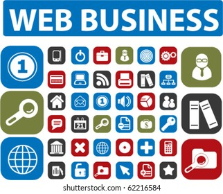 30 web business buttons. vector
