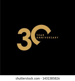 30 Year Anniversary Celebration Vector Template Design Illustration
