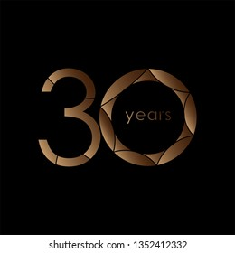 30 year Anniversary Logo Vector Template Design Illustration