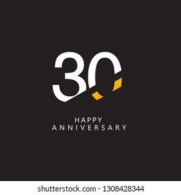 30 Year Anniversary Vector Template Design Illustration.