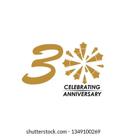 30 Year Celebrating Anniversary Vector Template Design Illustration