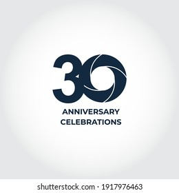 30 Years Anniversary Celebration. Number Vector Template Design Illustration. Eps10