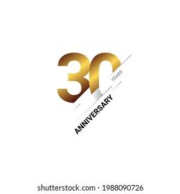 30 Years Anniversary Celebration Template Design. Vector illustration