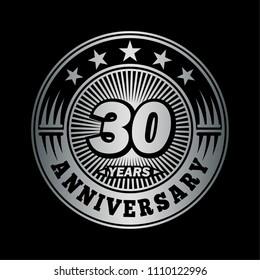 30 years anniversary. Anniversary logo design. Vector and illustration.