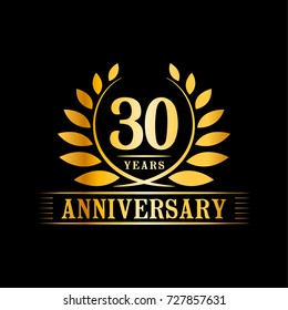 30 years anniversary logo template.