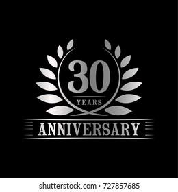 30 years anniversary logo template.