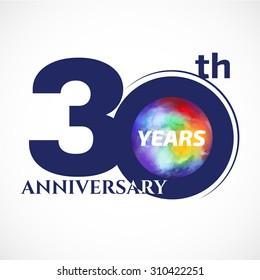 30 years anniversary Template logo