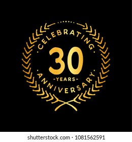 30 years design template. 30th vector and illustration.
