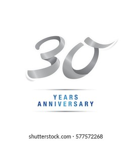 30 years silver anniversary celebration logo , isolated on white background