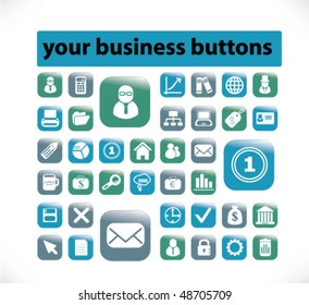 30 your business buttons. vector