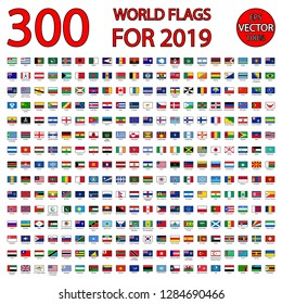 300 world flags for 2019