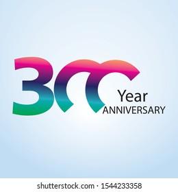 300 Year Anniversary Logo Vector Template Design Illustration