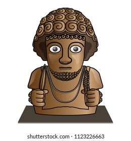 3,000 year old sculpture of King Suppiluliuma of Hittite Empire, vector