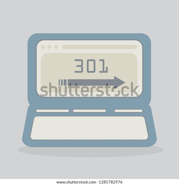 301 Redirect Vector Number 301 Arrow Stock Vector (Royalty