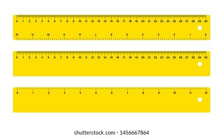 30cm Measure Tape ruler school metric measurement. Metric ruler.