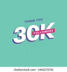 30k Followers Banner Social Media