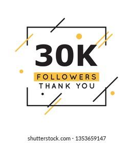 30k followers thank you design template