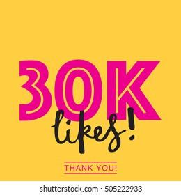 30K likes online social media thank you banner
