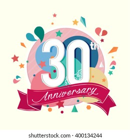 30th anniversary with abstract background
