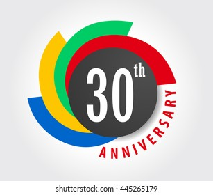 30th Anniversary celebration background, 50 years anniversary card illustration - vector eps10
