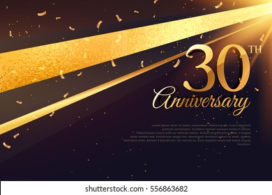 30th anniversary celebration card template