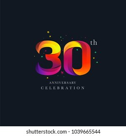 30th Anniversary Logo Design, Number 30 Icon Vector Template.