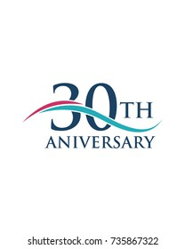 30Th anniversary, logo, icon, vector