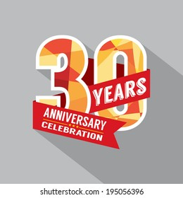 30th Year Anniversary Celebration Design