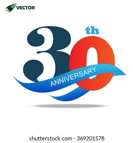30th year anniversary logo and sign