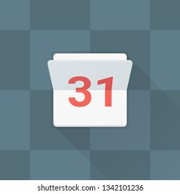 31 Calendar Adaptive icon Material Design illustration