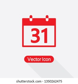 31 Calendar Icon Vector Illustration Eps10