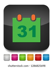 31 day Calendar icon. vector month calender symbol - event reminder