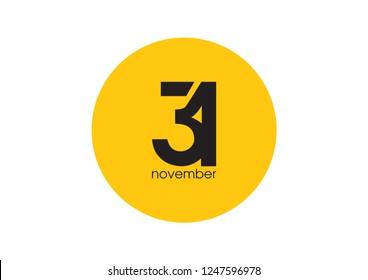 31 november logo design
