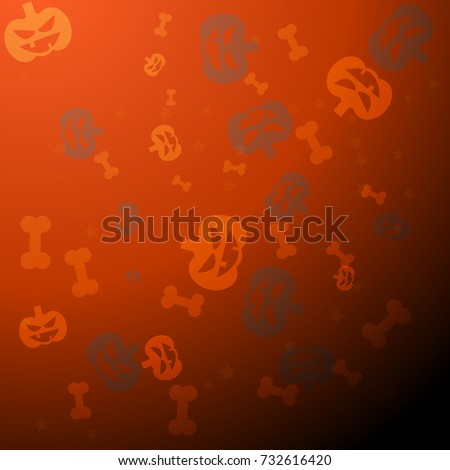 The 31 October halloween vector pattern background