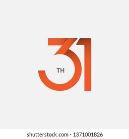 31 th Anniversary Vector Template Design Illustration