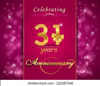 31 Anniversary Images Stock Photos Vectors Shutterstock