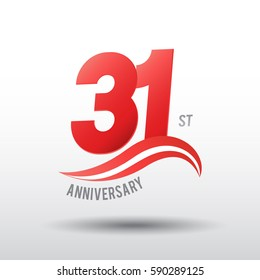 31 Years Anniversary Celebration Design