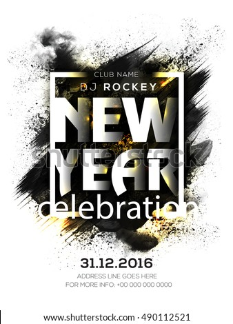 31st december 2016 new years eve party celebration flyer banner pamphlet or