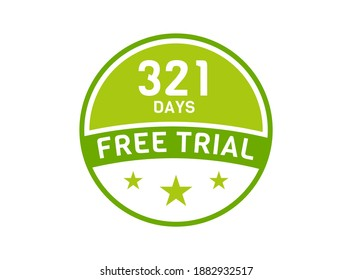 321 days free trial. 321 day Free trial badges