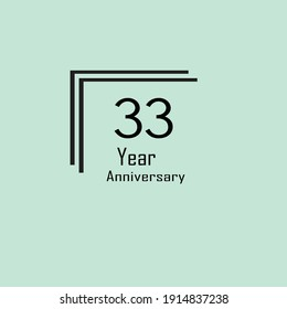 33 Anniversary Modern Stamp Seal for Birthday Wedding Party