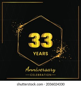33 years Anniversary Celebration Design, Vector illustration design.