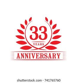 33 years anniversary logo template.