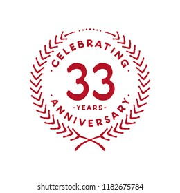33 years design template. 33rd vector and illustration.