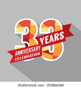 33rd Years Anniversary Celebration Design