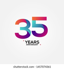 35 Anniversary Number Vector Design For Celebrate