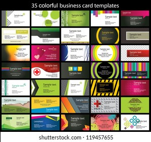 35 colorful business card template